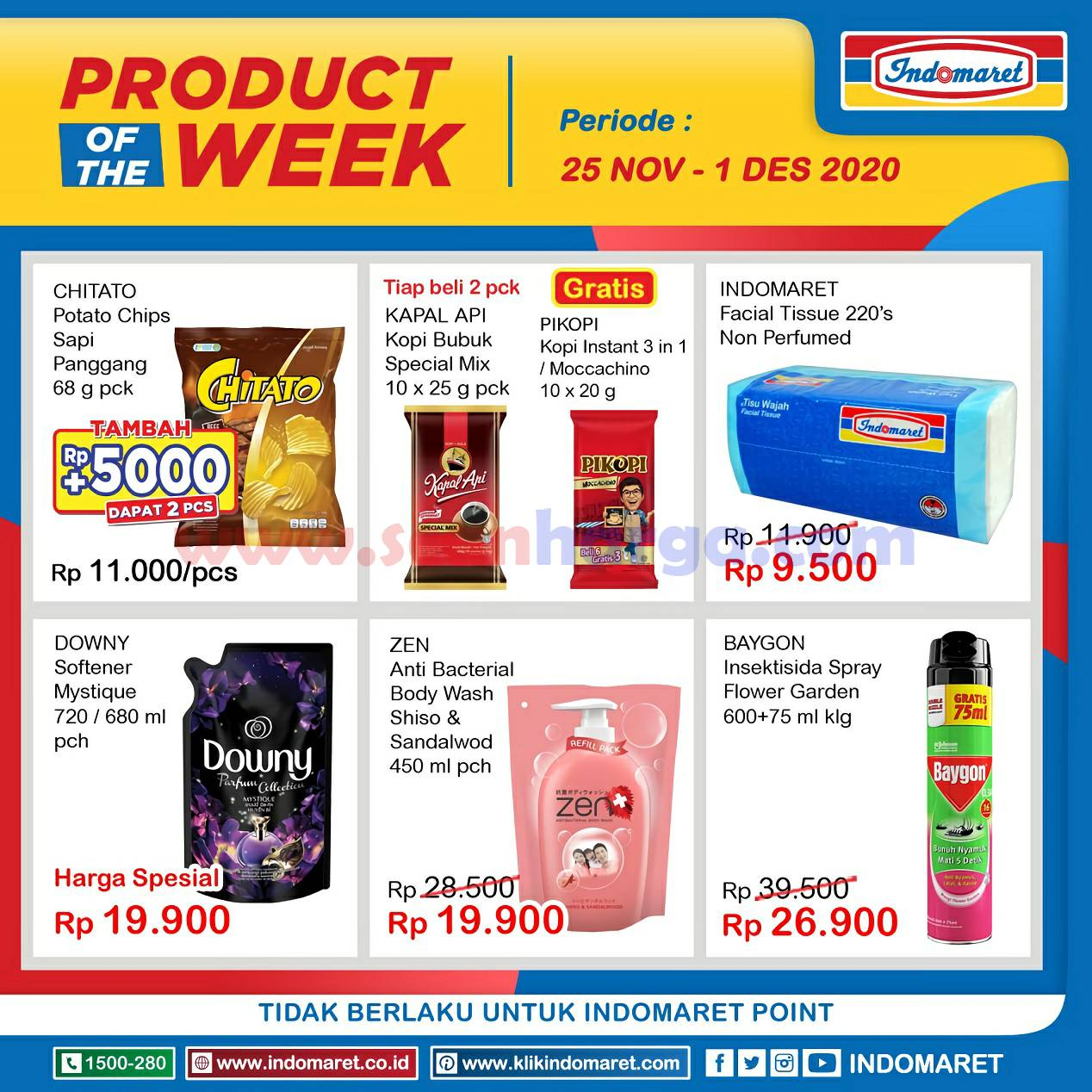 Katalog Indomaret Product Of The Week Promo PTW 25 November - 1 Desember 2020