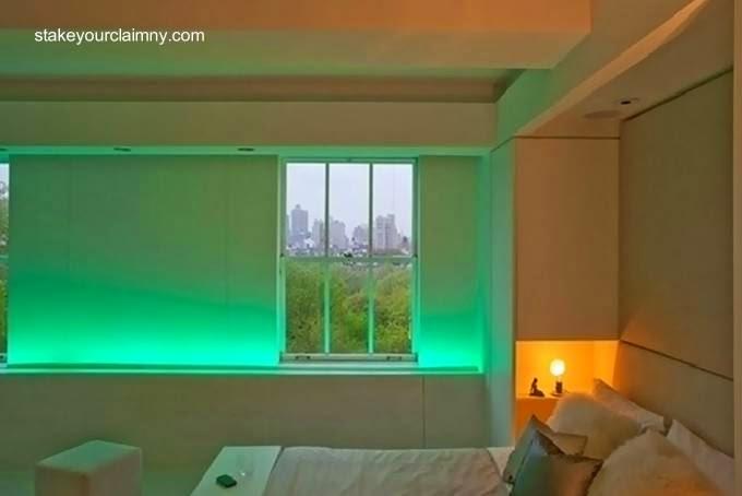 Decoración interior con LEDs de colores