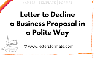 how to politely decline a business offer sample