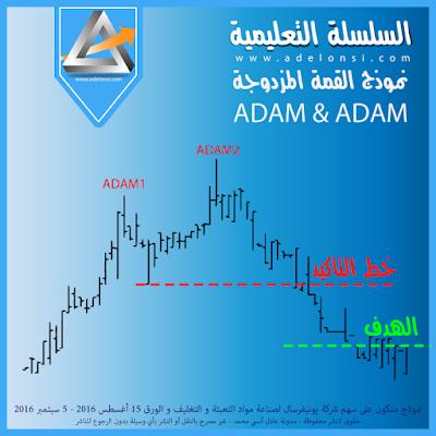 مثال عن نموذج القمة المزدوجة ADAM & ADAM