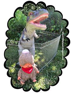 kiki monchhichi parodie humour plushie life Jurassic park