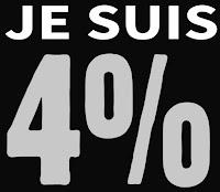 """Hashtag """"Je suis 4%"""""""