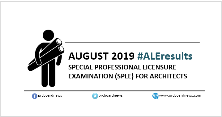 SPLE Result: August 2019 Architect board exam ALE list of passers, top 10 (Middle East)