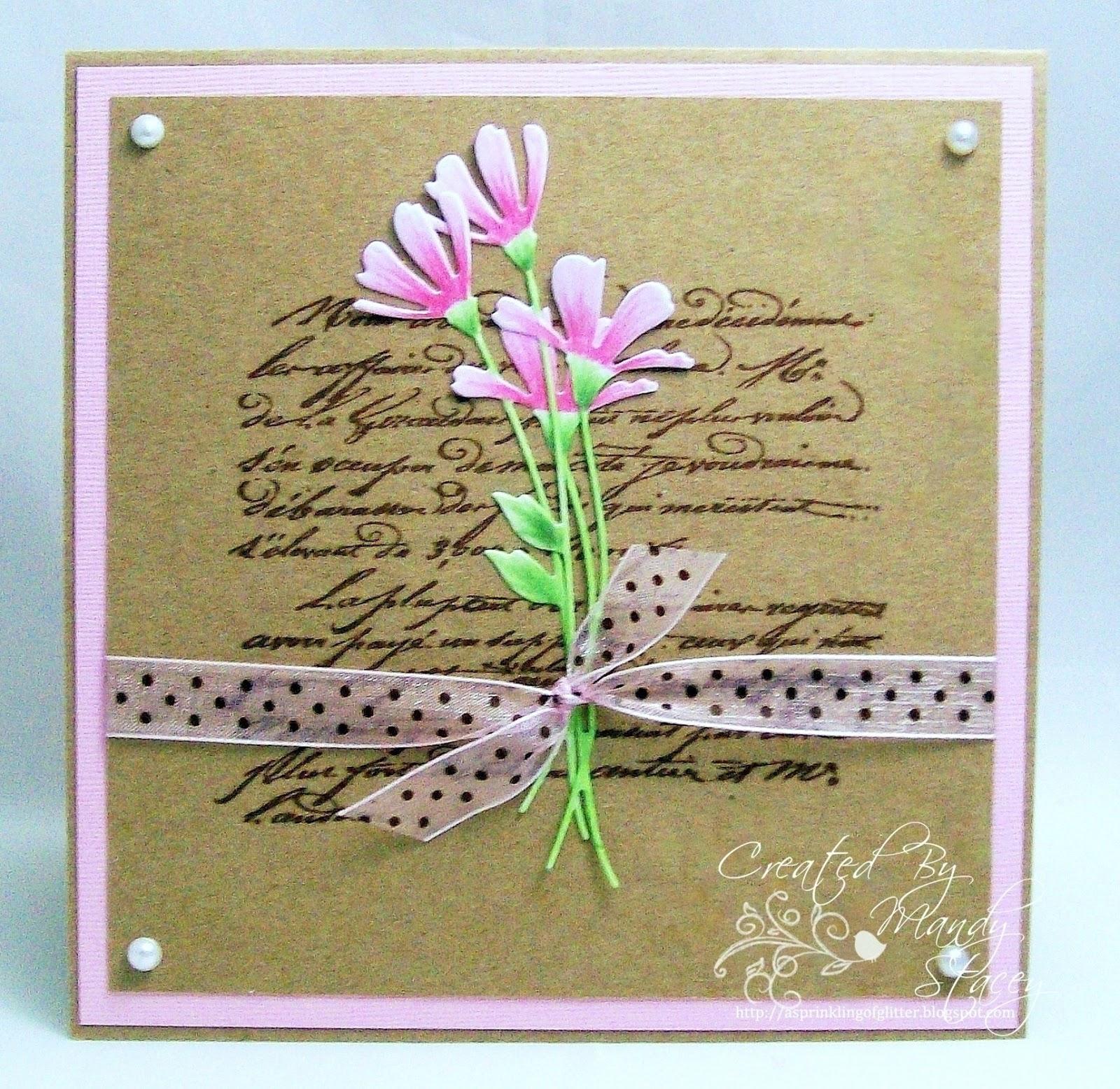 Весенняя открытка своими
