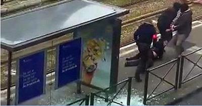شاهد بالفيديو قتل إرهابي ببروكسيل على المباشر