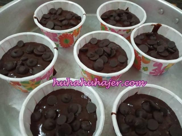 Gambar Sebelum Masuk Oven Muffin Coklat  Resepi Azlina Ina Buat Sendiri