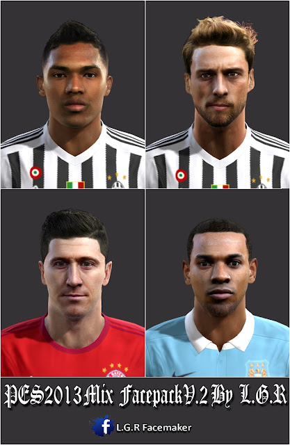 PES2013 Mix Facepack V.2 by L.G.R