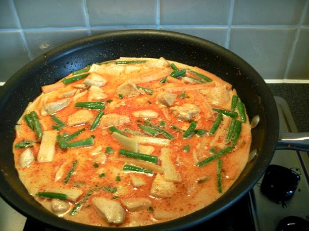 Thai Red Chicken Curry Cooking