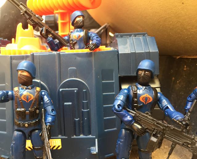 2004 Cobra Trooper, Cobra Officer, 1993 Detonator, Battle Corps, Toys R Us Exclusive, TRU
