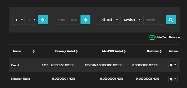 Guide for transferring credit from primary wallet to MiniPoS