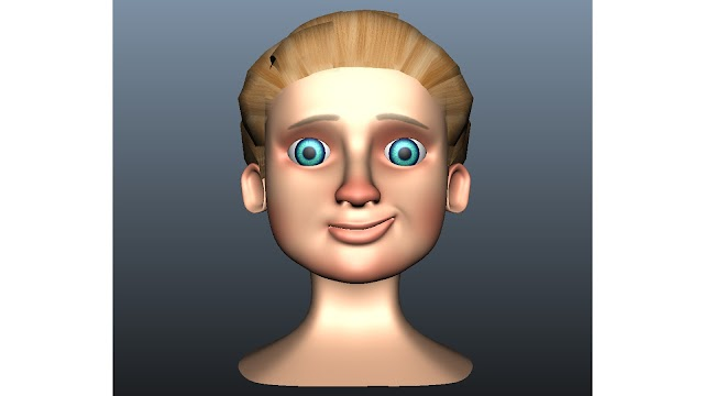 Boy Face 3D Model Free Download Maya,Obj,Low Poly