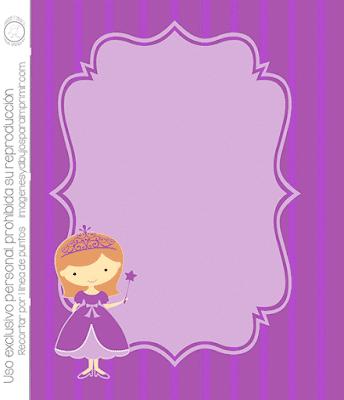 Invitaciones de princesas para imprimir gratis