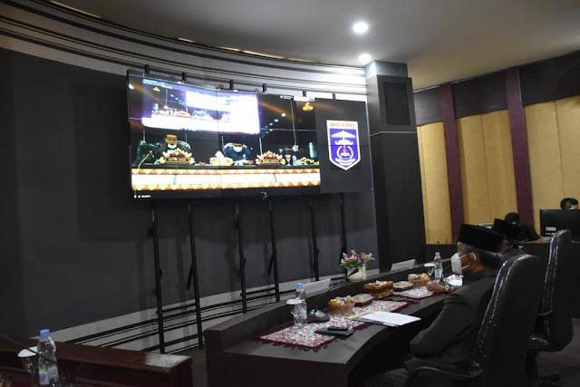 Walikota Metro Sampaikan LKPJ tahun 2019 Kota Metro