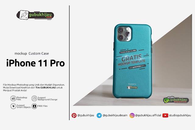 Mockup Custom Case iPhone 11 Pro by gubukhijau