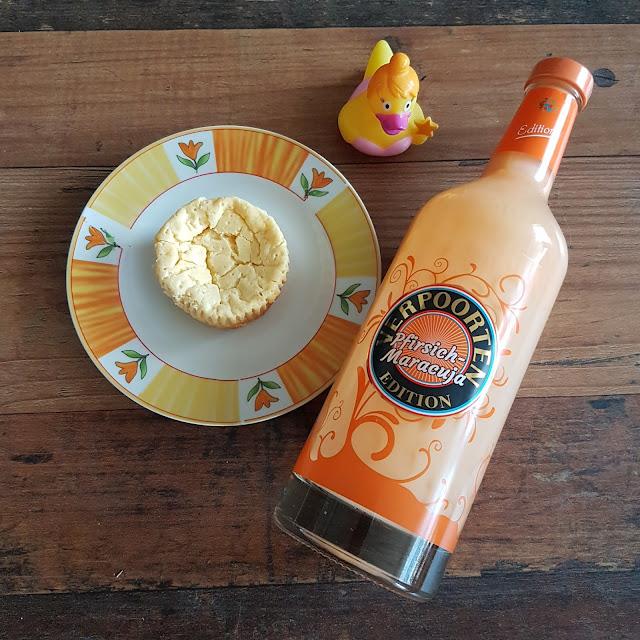 Käsekuchen Muffins mit VERPOORTEN Pfirsich-Maracuja Eierlikör