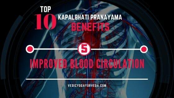 टॉप १० कपालभात प्राणायाम फायदे- Blood. रक्त परिसंचरण सुधारते