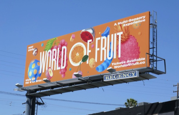 World of Fruit billboard