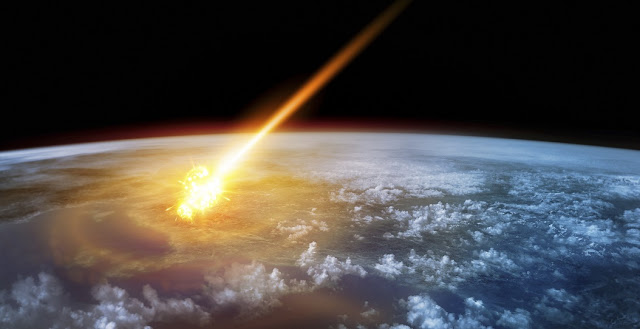 A thankfully rare event: an asteroid hits the Earth. (Visualisations: iStock / Solarseven)