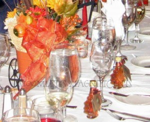 Fall Table Decorations for a Wedding