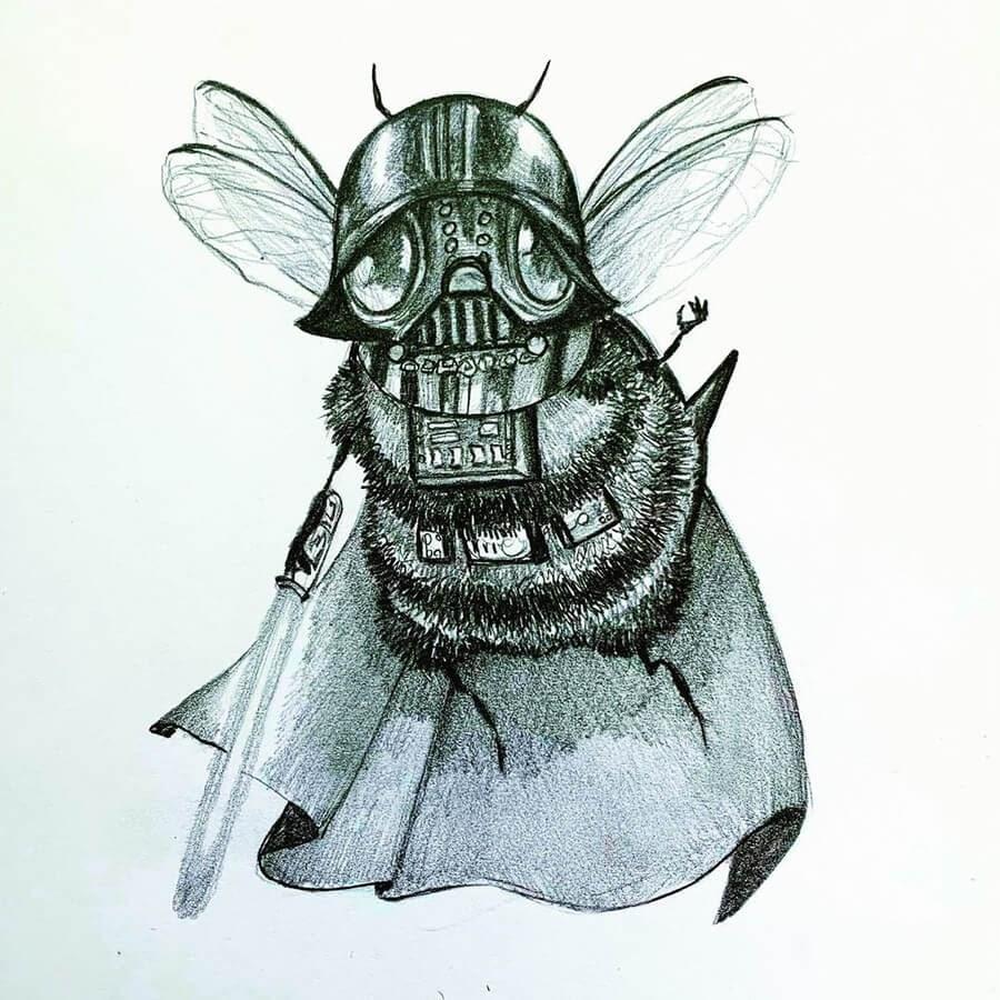 03-Darth Vader Star Wars-Camilla-d-Errico-www-designstack-co