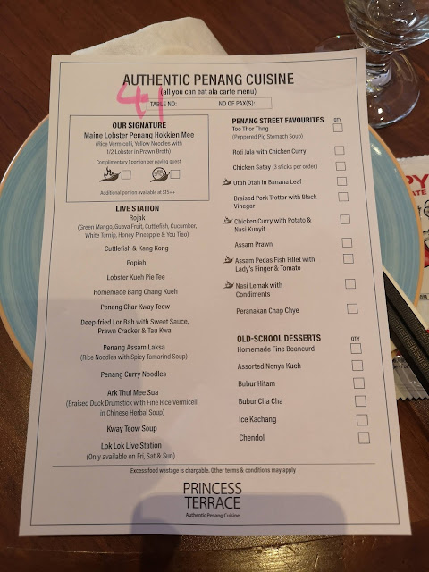 Authentic Penang Cuisine menu