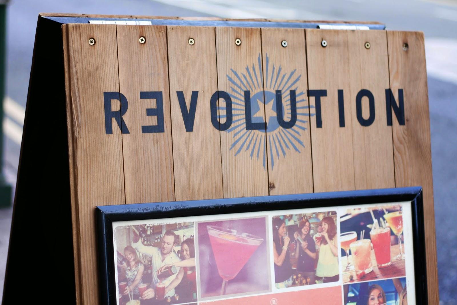 Revolution Bar in Birmingham