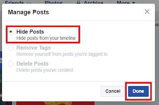Cara Menyembunyikan Semua Kiriman di Facebook