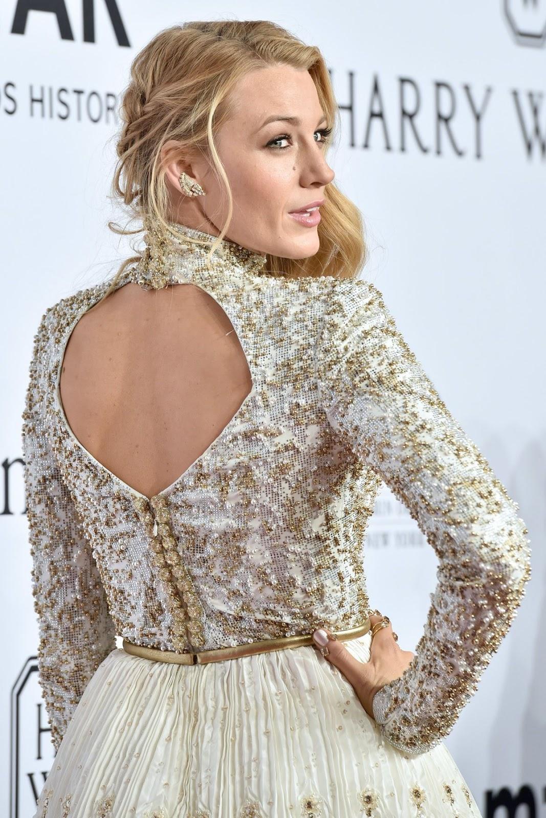 Blake Lively at 2016 amfAR New York Gala