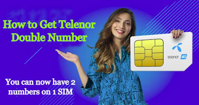 Telenor Double Number Offer Use Two Number on one Sim