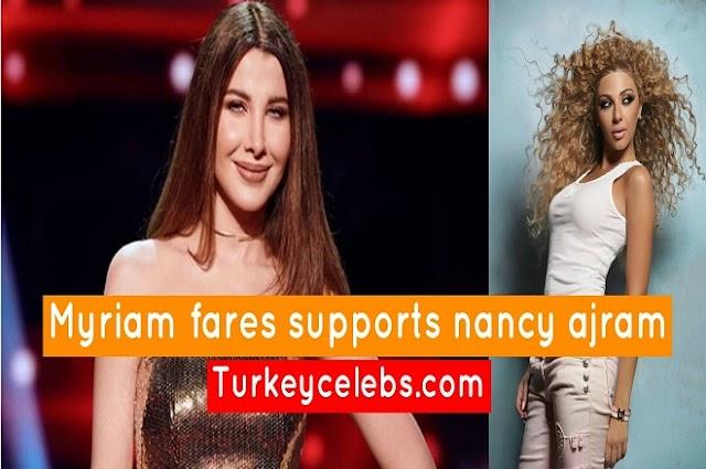 Myriam fares supports nancy ajram after nancy's publication.