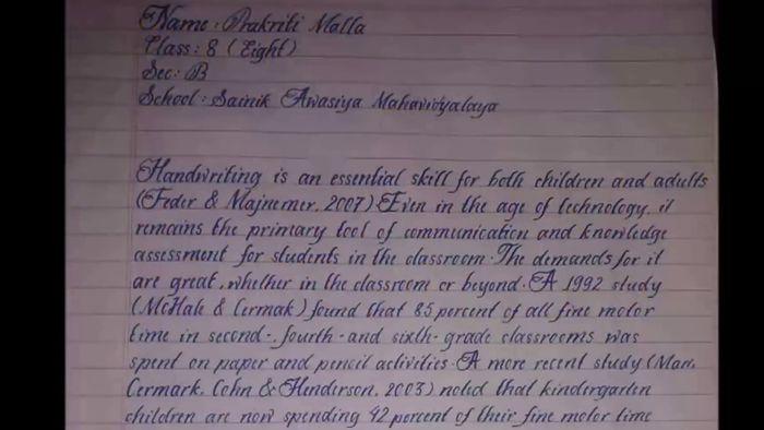 Tulisan tangan terindah di dunia. Tribun Pontianak