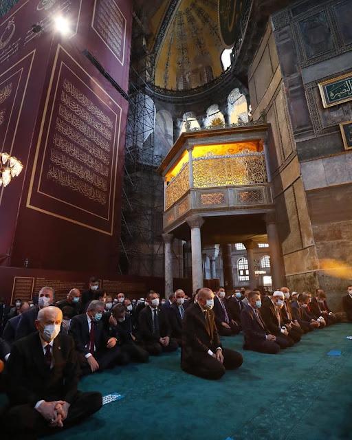 اول صلاة في مسجد ايا صوفيا