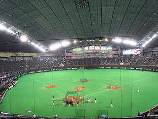 Home to center, Sapporo Dome