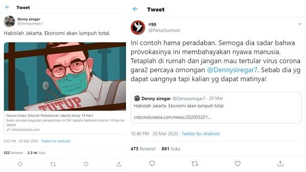 Serang Kebijakan Anies, Denny Siregar 'Dikuliti Habis' oleh PartaiSocmed