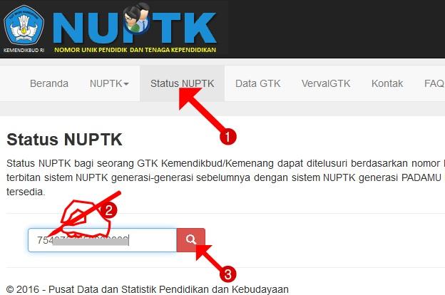 Cara Praktis Cek Keaktifan NUPTK di Info gtk data kemdikbud go id