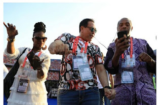 Checkout Photos Of Femi Kuti At The Opening Ceremony of AFCON 2019