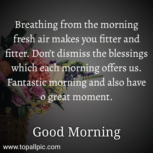 good morning messages images for flower