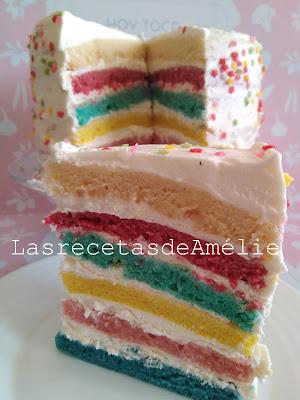 tarta, bizcocho, color, cake, pastel, fiesta, cumpleaños, multicolor