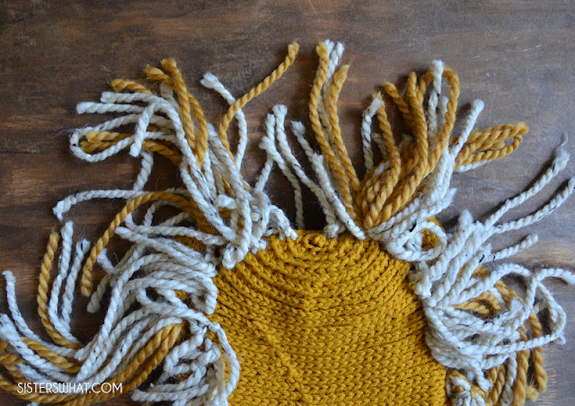 how to crochet a lion hat