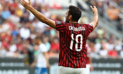 calhanoglu regala tre punti alla squadra rossonera con il goal decisivo contro il Brescia