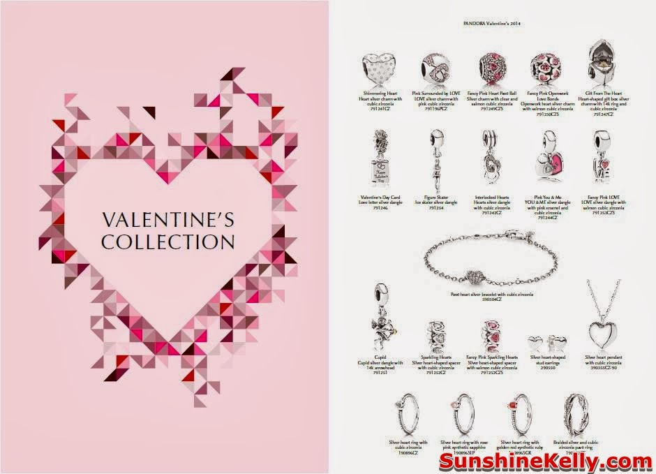 Pandora, Valentine's Collection 2014, Pandora Valentine's Collection 2014, bonds of love, charm bracelet, charms, pave charms, pink cubic zirconia stones, cubic zirconia stones, sterling silver, pandora charms, heart shaped stones, pave charms