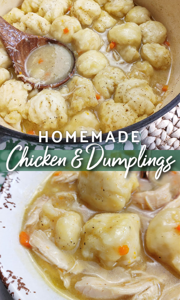 Homemade Chicken & Dumplings (Drop or Rolled) by South Your Mouth - WEEKEND POTLUCK 495