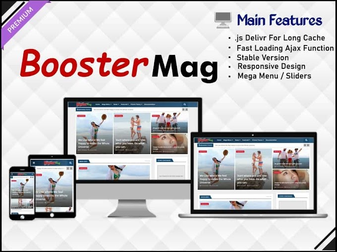 Booster Mag Template - Responsive Blogger Template