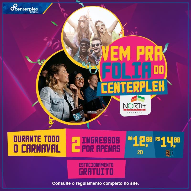 Centerplex Cinema de Barretos anuncia promoção de Carnaval com ingressos a preços especiais