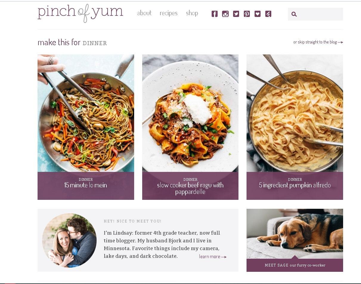 sajt-pinchofyum-primer-domashnyaya-stranicza-dlya-kulinarnogo-bloga