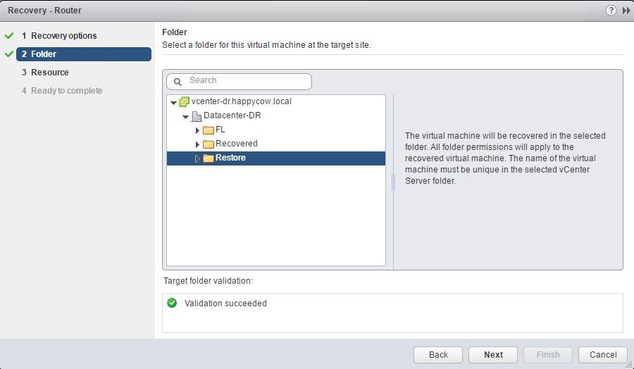 Part 3: Recover A VM Using vSphere Replication
