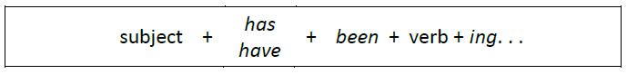 Present Perfect Continuous Dalam Bahasa Inggris