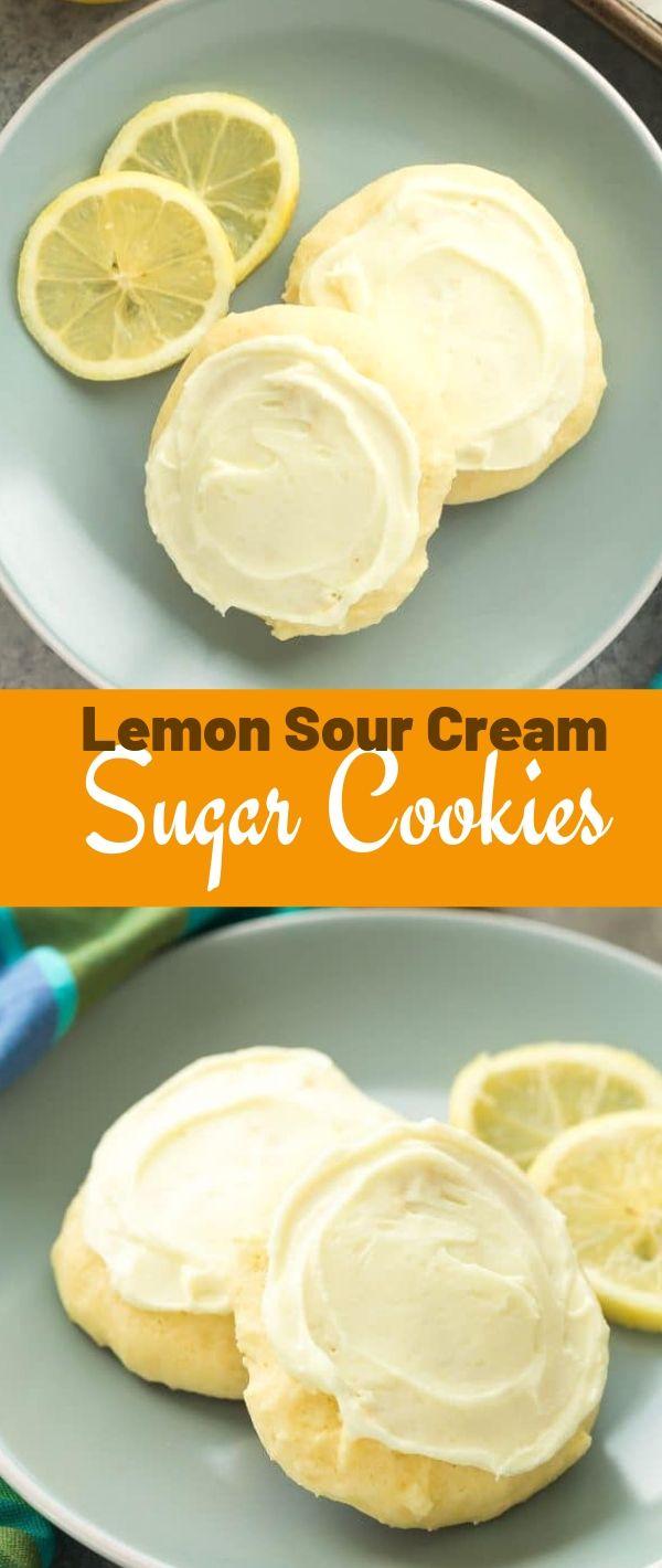 Lemon Sour Cream Sugar Cookies #Lemon #Sour #Cream #Sugar #Cookies Cookie Recipes Chocolate Chip, Cookie Recipes Easy, Cookie Recipes Christmas, Cookie Recipes Keto, Cookie Recipes From Scratch,