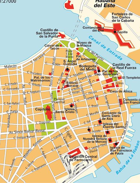 Mapas de Havana – Cuba - MapasBlog