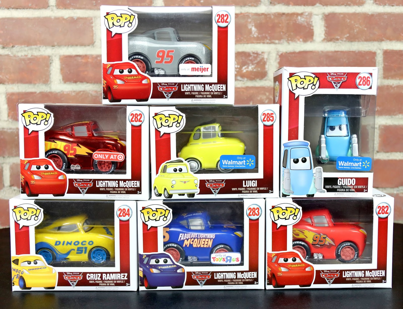 Dan The Pixar Fan Cars 3 Complete Funko Pop Collection